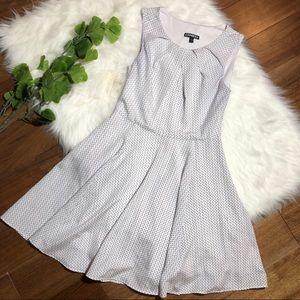 Express | White Black Triangle Dress Keyhole Front